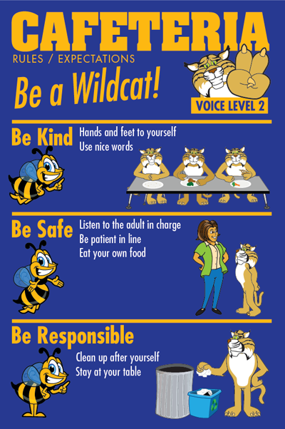 PBIS Posters Cafeteria Rules