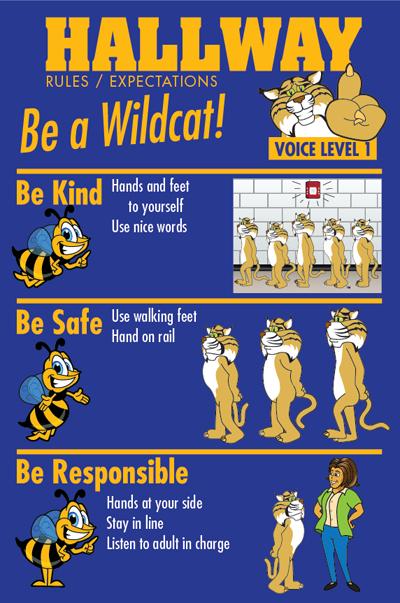 PBIS Poster Hallway Rules