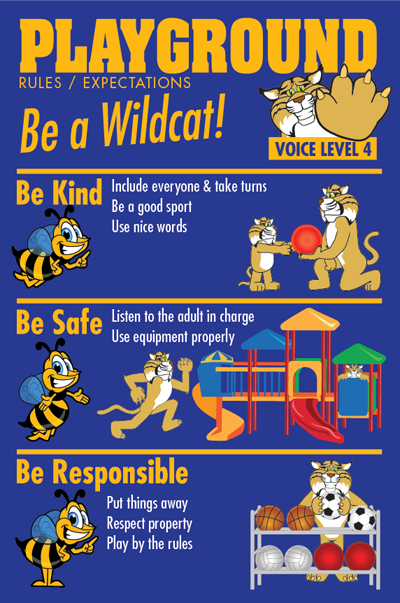 PBIS posters rules playground