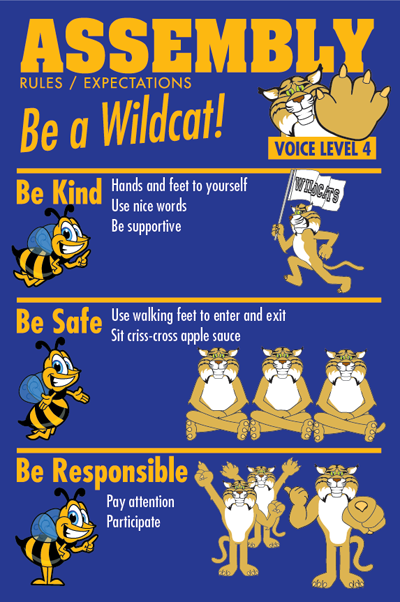 PBIS Posters Assembly Rules