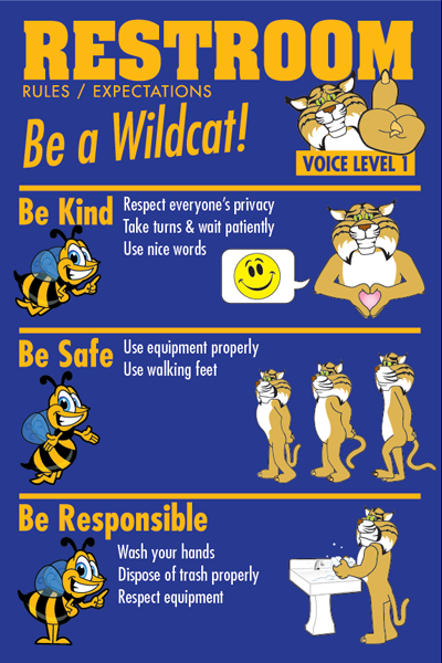 PBIS Posters Restroom Rules