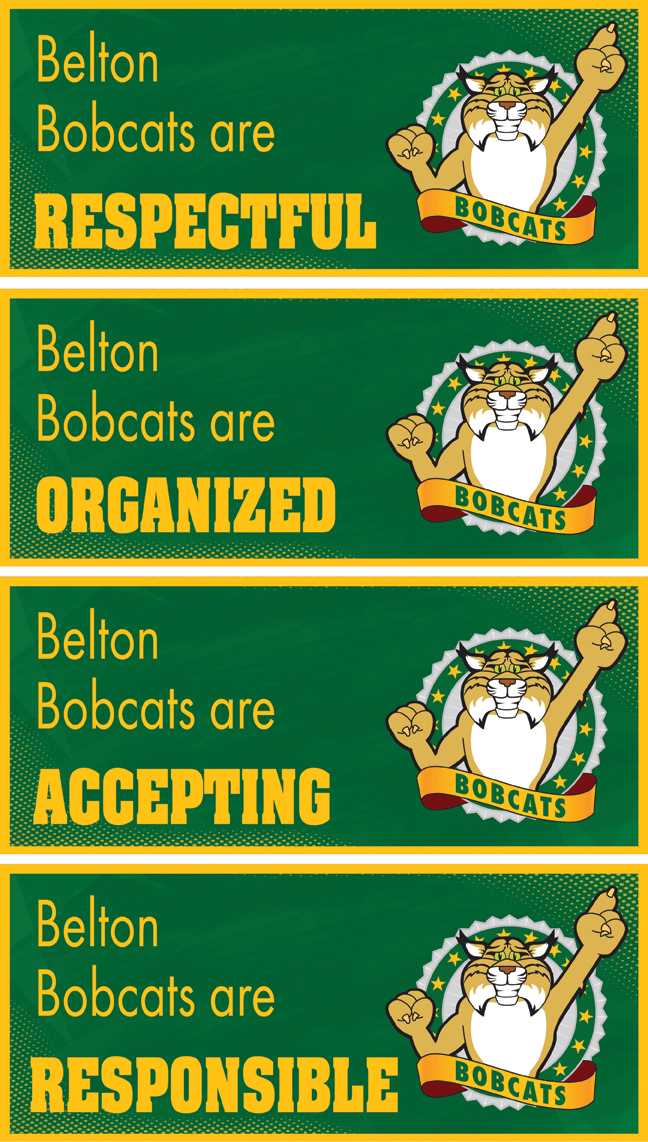 Ceiling Banners Bobcats PBIS